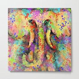 Colorful elephant Metal Print