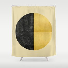 Black and Gold Circle 03 Shower Curtain