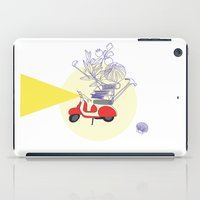 motorbike iPad Cases featuring Red motorbike by Yyemin K.