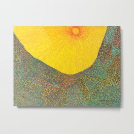 Here Comes the Sun - Van Gogh impressionist abstract Metal Print