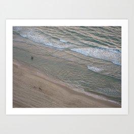 Miniatures on Ocean Edge Art Print