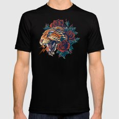 Ornate Leopard (Color Version) Black MEDIUM Mens Fitted Tee