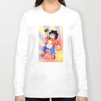 steven universe Long Sleeve T-shirts featuring STEVEN UNIVERSE by DROIDMONKEY