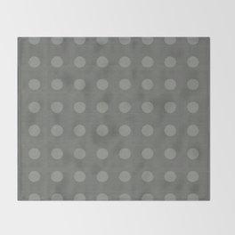 """Dots Elephant Grey"" Throw Blanket"