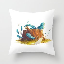 Bird in the wind Throw Pillow