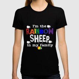 Rainbow Sheep   Gay Pride LGBT Bisexual Homosexual T-shirt