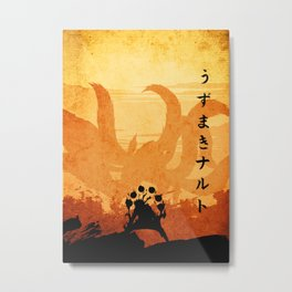 naruto the kyuubi Metal Print