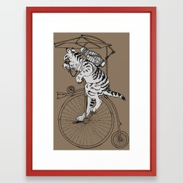 Steam Punk Tabby Cat Framed Art Print