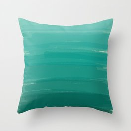 Sea Foam Dream Ombre Throw Pillow