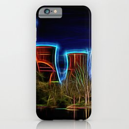 Digital Art Ironbridge Power Station iPhone Case