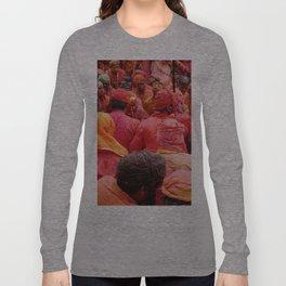 Holi, Mathura, India Long Sleeve T-shirt