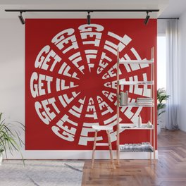 Time to Get Ill Clock - Red Wall Mural