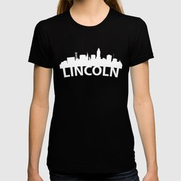Curved Skyline Of Lincoln NE T-shirt