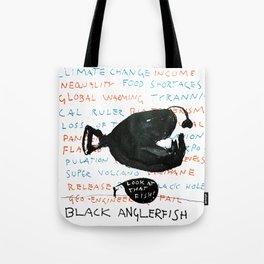 Black Anglerfish Tote Bag