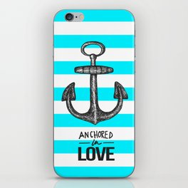 Anchored // Love iPhone Skin