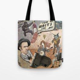 Tom Waits' Melodramatic Nocturnal Scene Tote Bag