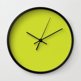 Spin Serve ~ Chartreuse Wall Clock