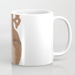 Minimal Abstract Greek Vase 8 - Krater - Terracotta Series - Modern, Contemporary Print - Sepia Coffee Mug