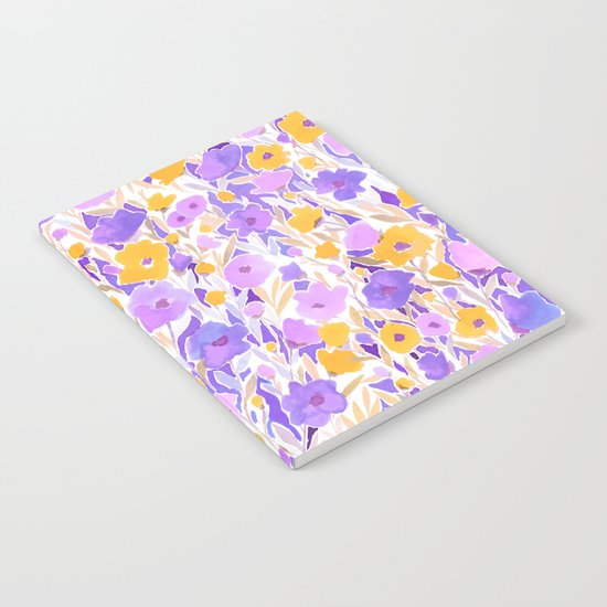 Flower Field Yellow Lilac Notebook