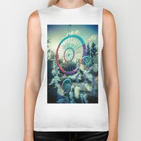 dream catcher Biker Tanks featuring Dream Catcher by Sandy Broenimann