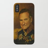 robin williams iPhone & iPod Cases featuring Robin Williams - replaceface by replaceface