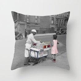 Ice Vendor Throw Pillow
