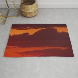 Orange sunset sky (dark) Rug