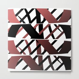 Crisscross Metal Print