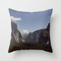 yosemite Throw Pillows featuring Yosemite by Jeff Harmon Photography