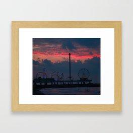 Life on the Pier Framed Art Print