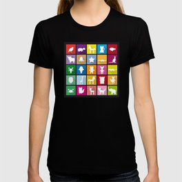 silhouettes of animals T-shirt
