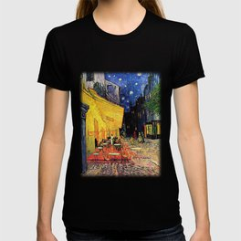 The cafe terrace on the place du forum, Arles, at night, by Vincent van gogh.  T-shirt