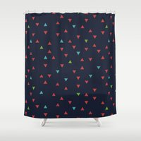 snowboarding Shower Curtains featuring TRY ANGLES / snowboarding by DANIEL COULMANN
