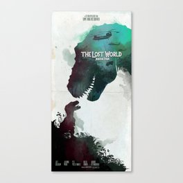 Inspired movie poster. The Lost World: Jurassic Park (1997) Canvas Print