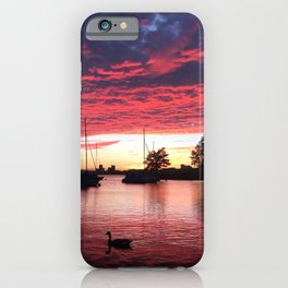 Charles River Sunset iPhone Case