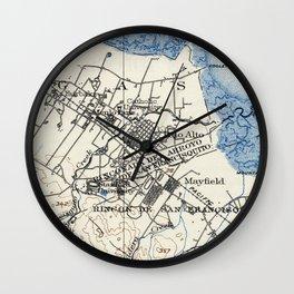 Vintage Map of Palo Alto California (1899) Wall Clock
