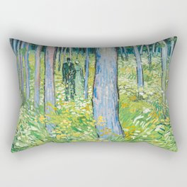 Undergrowth with Two Figures by Vincent van Gogh Rectangular Pillow