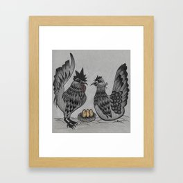 Gothic Chickens Framed Art Print