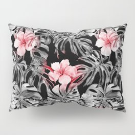 black and pink roses Pillow Sham