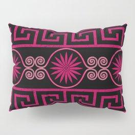 Ornate Greek Bands in Pink Pillow Sham
