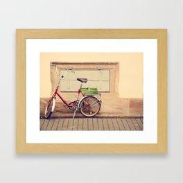 The Green Basket Framed Art Print