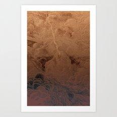 Chute dans Jupiter Art Print