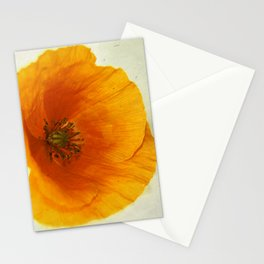 Lonesome Poppy Flower (Yellow version) Stationery Cards