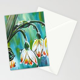 Drips on droopy flowers Stationery Cards