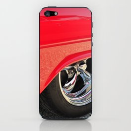 Red and Chrome iPhone Skin