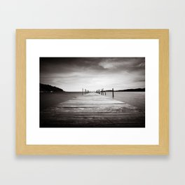 Koh Rong Bay Pier Framed Art Print
