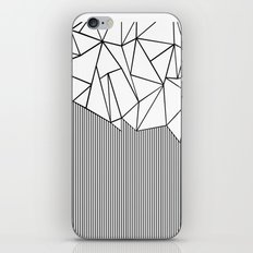 Ab Lines White iPhone & iPod Skin