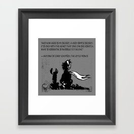 Antoine de Saint-Exupéry - quote - stencil - grey version Framed Art Print