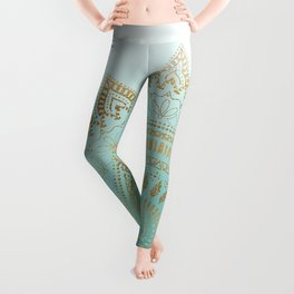 Pretty hand drawn tribal mandala elegant design Leggings