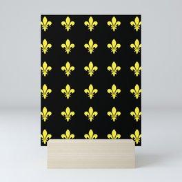 Fleur de lys 4-lis,lily,monarchy,king,queen,monarquia. Mini Art Print